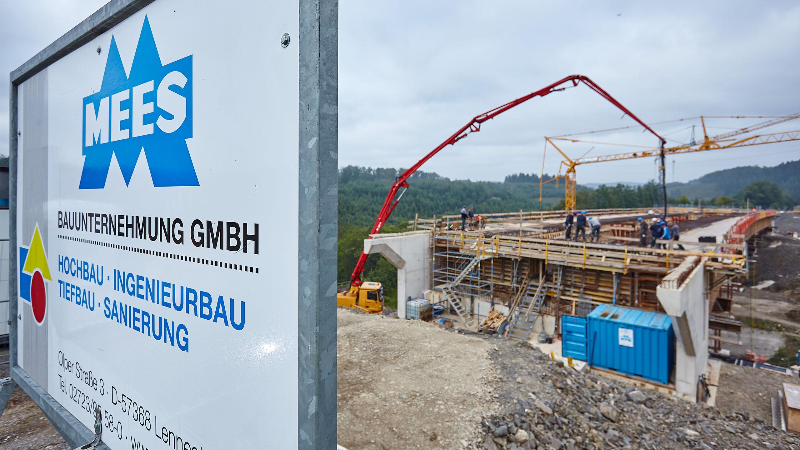 Hohlkörperspannbeton-Brücke an der A45 bei Öhringhausen